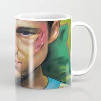 tyler durden Mugs featuring FIGHT CLUB - TYLER DURDEN by John McGlynn