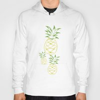 pineapple Hoodies featuring Pineapple by Tanya Thomas