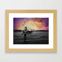 Purple skies at night, astronauts delight Framed Art Print