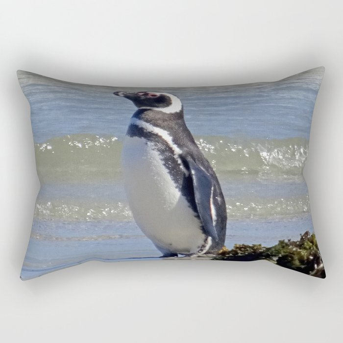 Magellanic Penguin by the Sea Rectangular Pillow