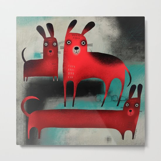 RED DOGS Metal Print