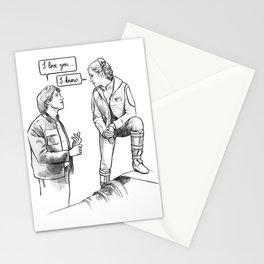 I love you I know Stationery Cards