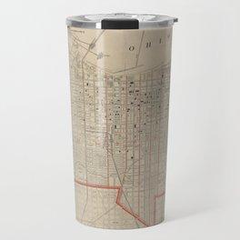 Vintage Map of Louisville KY (1880) Travel Mug