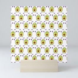 Happy Avocados on White Mini Art Print