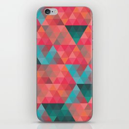 Abstract Geometric Pattern colorful triangles abstract art iPhone Skin