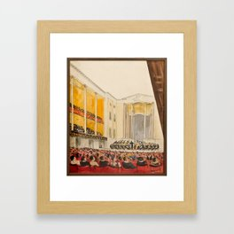 Inside the main auditorium (Stockholm Concert Hall), with the orchestra, Isaac Grunewald, (1889-1946 Framed Art Print