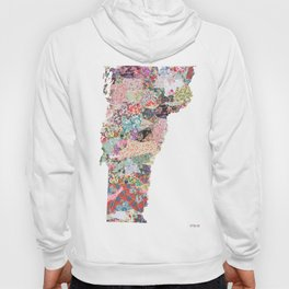 Vermont map Portrait Hoody