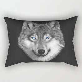 Wolf with blue eyes Rectangular Pillow