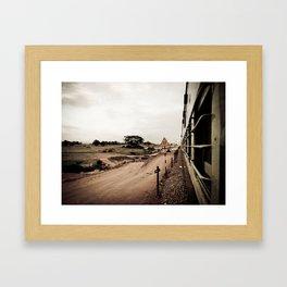 The Train Back Home. Framed Art Print
