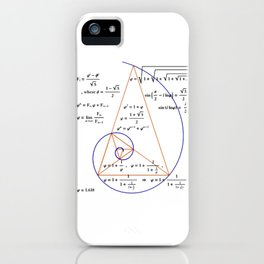 Golden Triangle / Logarithmic Spiral iPhone Case