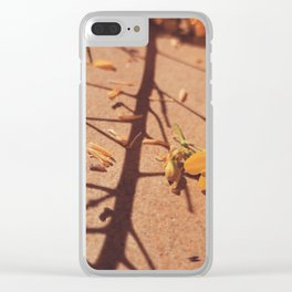 Minimal yellow flower Clear iPhone Case