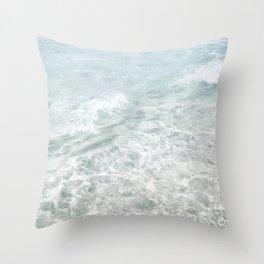 Translucent Waves Throw Pillow