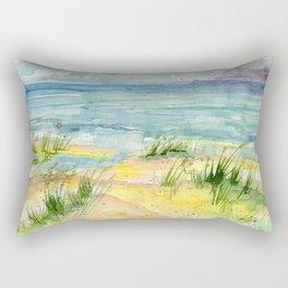 Stormy Beach Rectangular Pillow
