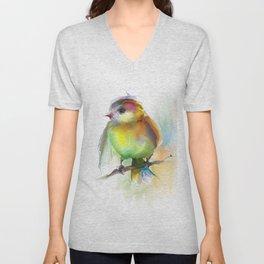 singing birdie Unisex V-Neck