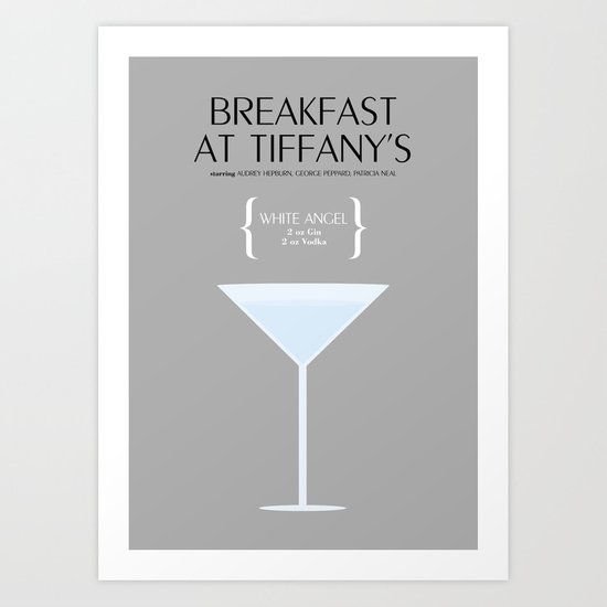 BREAKFAST AT TIFFANY'S _MOVIE COCKTAIL_ Blake Edwards Art Print