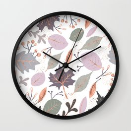 Collage plants Wall Clock