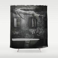 The floating woman Shower Curtain