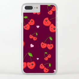 Cherry Party Clear iPhone Case