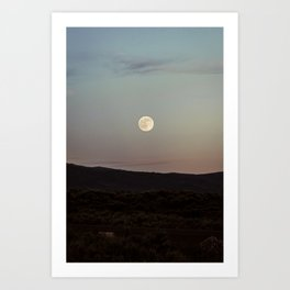 Moon Over Grand Teton Art Print