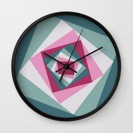 Abstract squares 2 Wall Clock