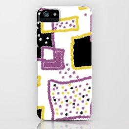 fuzzy rectangles iPhone Case