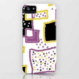 fuzzy rectangles iPhone Case