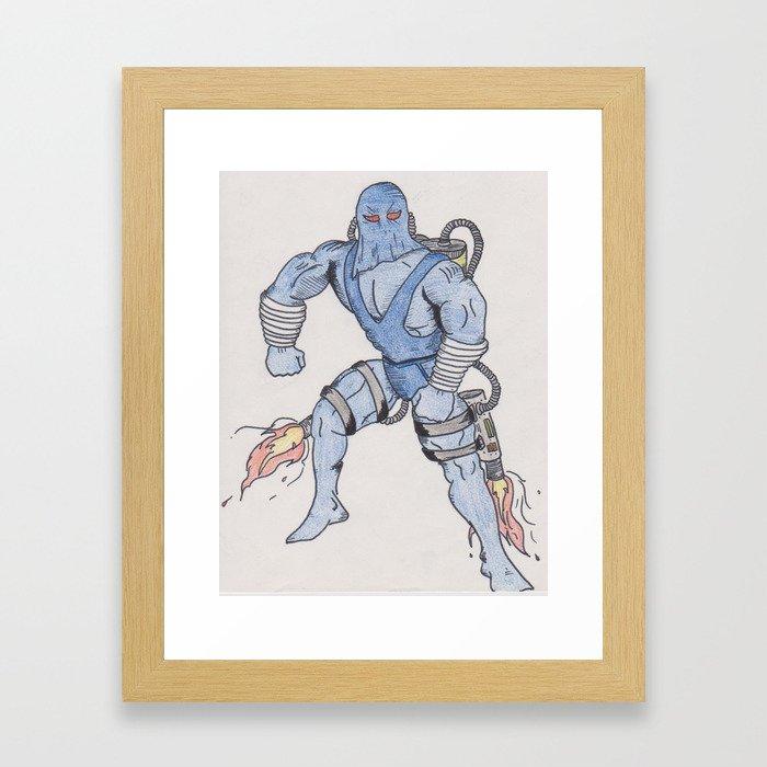 Comic Bad guy Framed Art Print