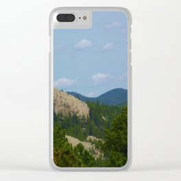 Mountains and Rocks Clear iPhone Case