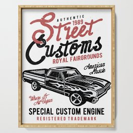 Street Customs Royal Fairgrounds Serving Tray
