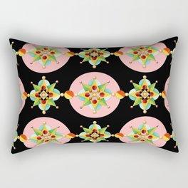Pink Polka Dot Geometric Rectangular Pillow