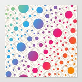 Abstract colorful background with cirlces Canvas Print