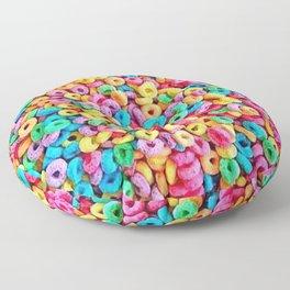 Fruit Loops Cereal Pattern Floor Pillow
