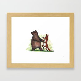 Bear & Fox Framed Art Print