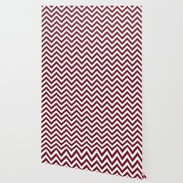 Burgundy Red Chevrons Pattern Wallpaper