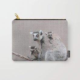 RINGTAILED LEMUR FAMILY by Monika Strigel Carry-All Pouch