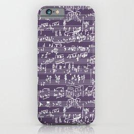 Hand Written Sheet Music // Honey Flower iPhone Case