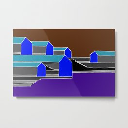 Black Stairs Metal Print