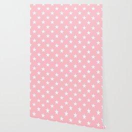 Stars (White/Pink) Wallpaper