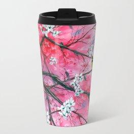Finch Amongst the Cherry Blossoms Travel Mug