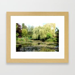 Willow Tree in Monet's Garden  Framed Art Print