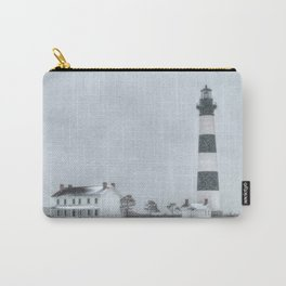Outer Banks, Bodie Island Lighthouse in the Snow OBX NC Carry-All Pouch
