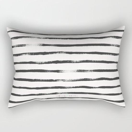 Thin Brush stripe Rectangular Pillow