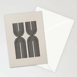 Mid Century Art - Arch shape Stationery Cards