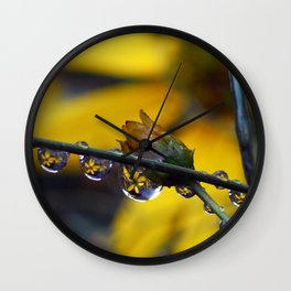 Even weeds are beautiful Wall Clock