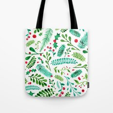 Christmas Florals Tote Bag
