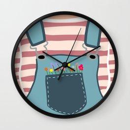 Pocket Full of FLOWERS Wall Clock