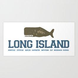 Long Island - New York. Art Print