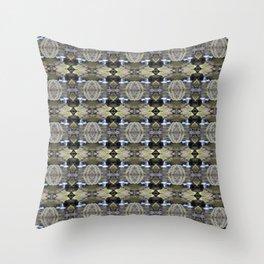 Peekamoose Waterfall Rocks Pattern Throw Pillow