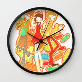 70s Disco Fever Wall Clock