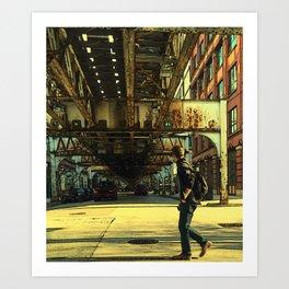 City Crossing Art Print